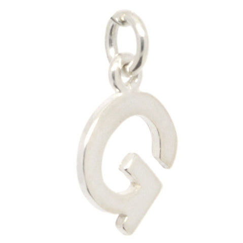 Silver Initial letter G Charm
