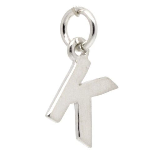 Silver Initial letter K Charm