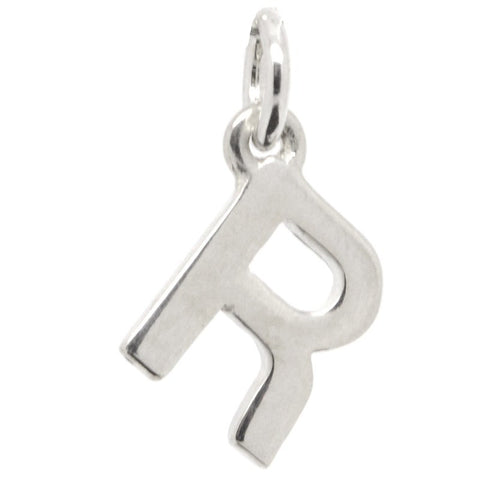 Silver Initial letter R Charm