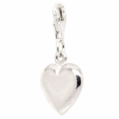 Silver Large Heart Charm