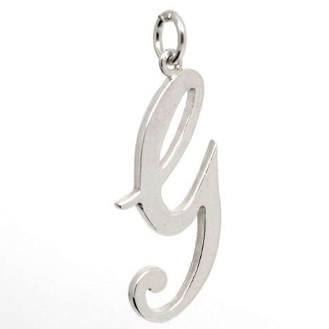 Silver Large Italic G Charm