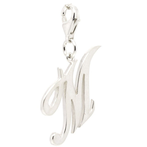 Silver Large Italic M Charm