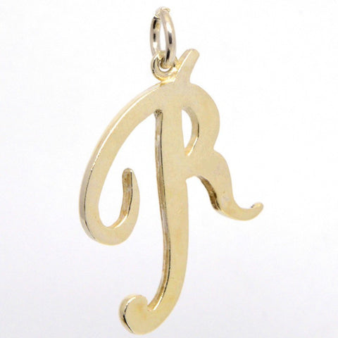 Silver Large Italic R Charm