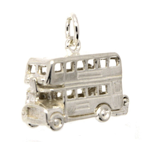 Silver Large London Bus Charm