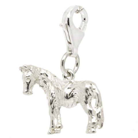 Silver Large Pony Charm