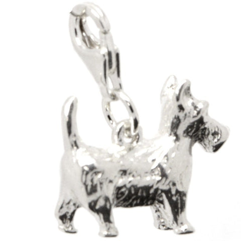 Silver Large Scottie Dog Charm