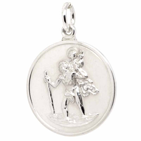 Silver Large St Christopher Charm