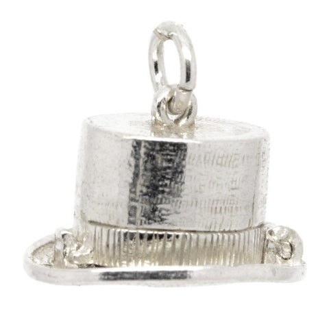 Silver Magicians' top hat Charm