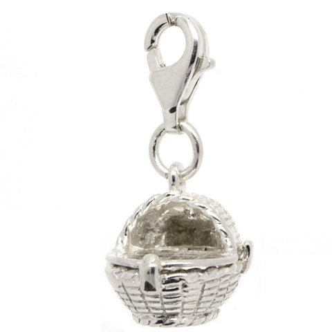 Silver Moses Basket Charm