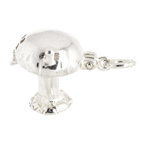 Silver Opening Toadstool Charm