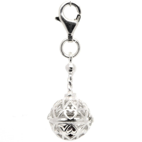 Silver Rattle Charm