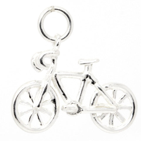 Silver Road Racing Bike Charm