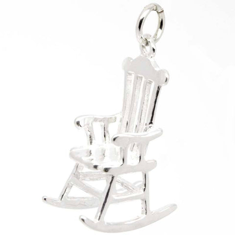 Silver Rocking Chair Charm