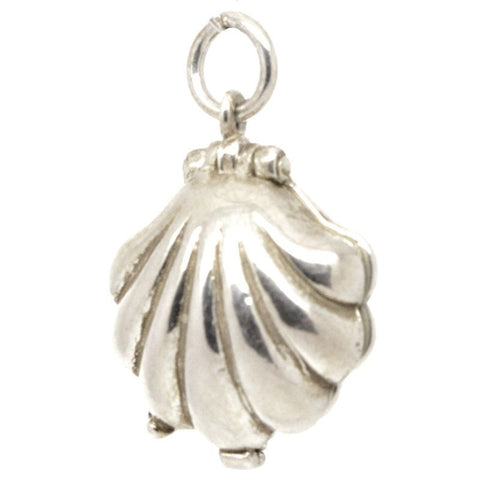 Silver Shell with Mermaid Charm