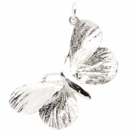 Silver Butterfly Pendant Charm