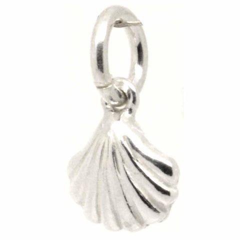 Silver Cockle Shell Charm small