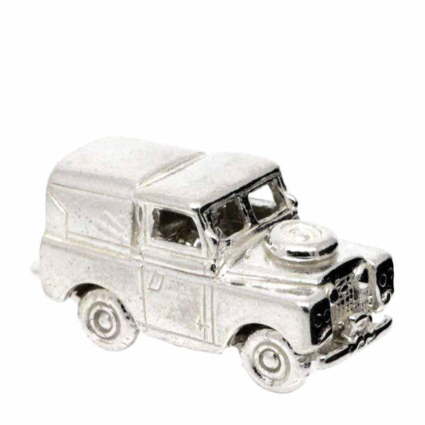 Charm - Silver Landrover Charm
