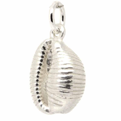 Silver Large Cowrie Shell Charm