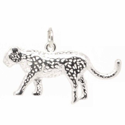Silver Leopard Charm