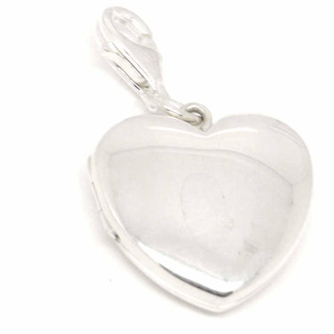 Silver Locket Large Heart Shaped