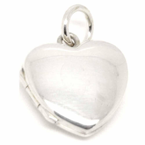 Silver Locket Small Heart Shaped
