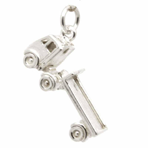 Silver Lorry Truck Charm