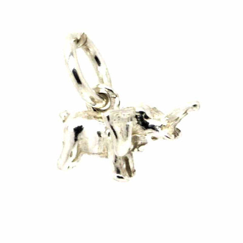 Silver Small Elephant Charm