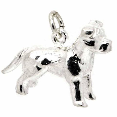 Silver Staffordshire Bull Terrier Charm