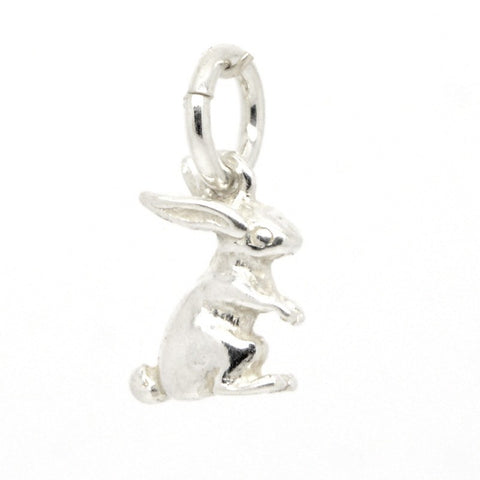 Silver Small Bunny Rabbit Charm