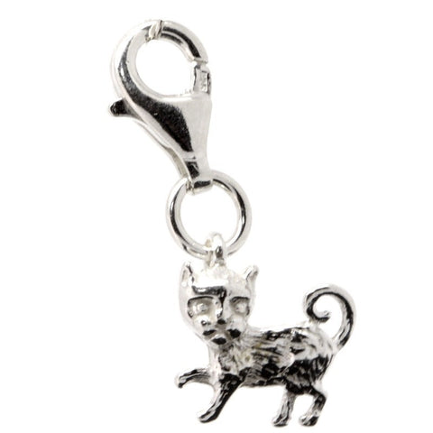 Silver Small Cat Charm