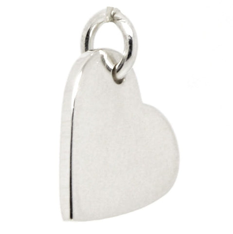 Silver Small Heart Tag Charm