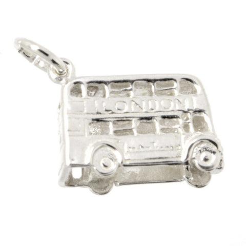 Silver Small London Bus Charm