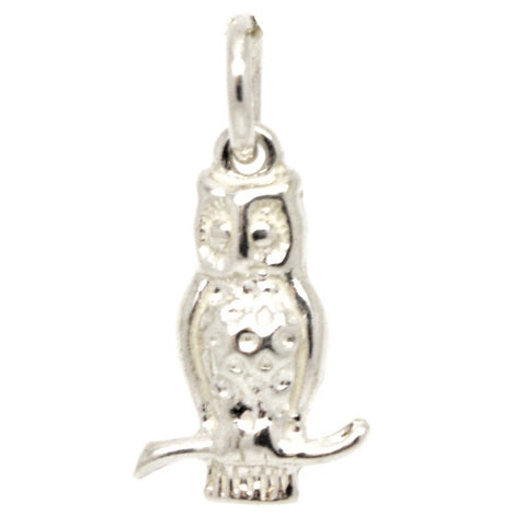 Silver Small Owl Charm