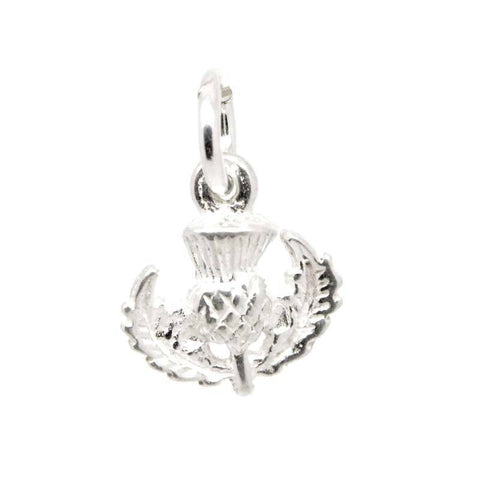Silver Small Scottish Thistle Charm