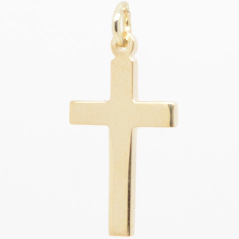 Gold Thin Cross Charm