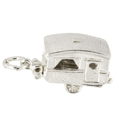 Silver Touring Caravan Charm (Old version)