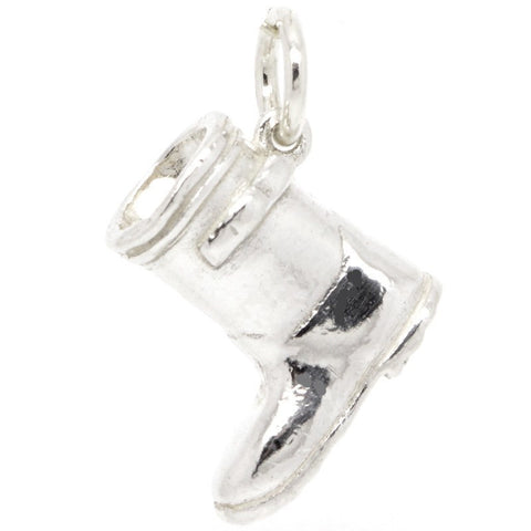 Silver Wellington Boot Charm