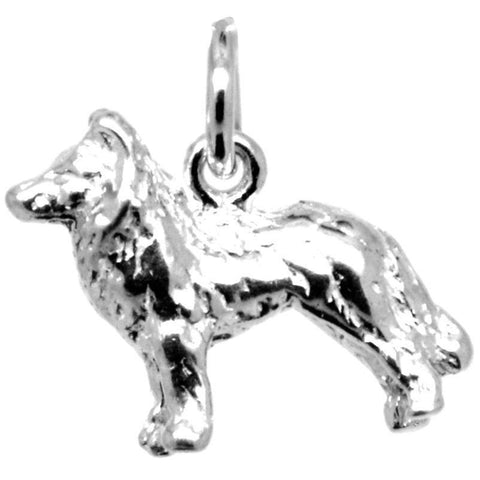 Silver Welsh Collie Dog Charm