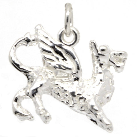 Silver Welsh Dragon Charm