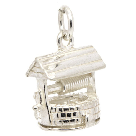 Silver Wishing Well Charm