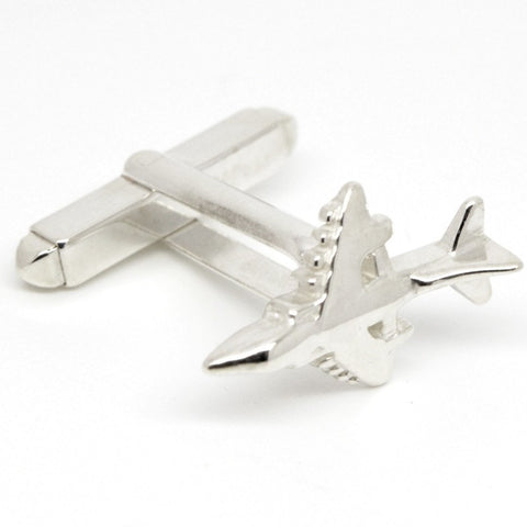 Harrier Jump Jet Plane Cufflinks