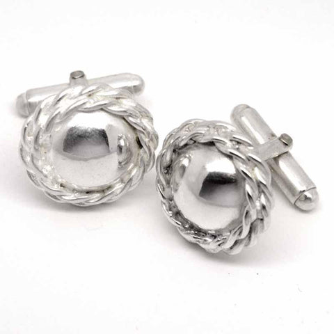 Ladies Double Rope Domed Cufflinks