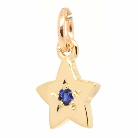 18ct Yellow Gold Birthstone Star Charm