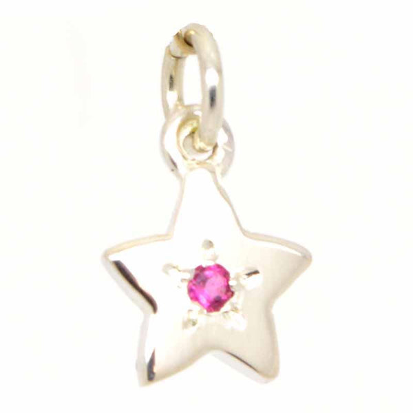 Gold Charm - 9ct Rose Gold Birthstone Star Charm