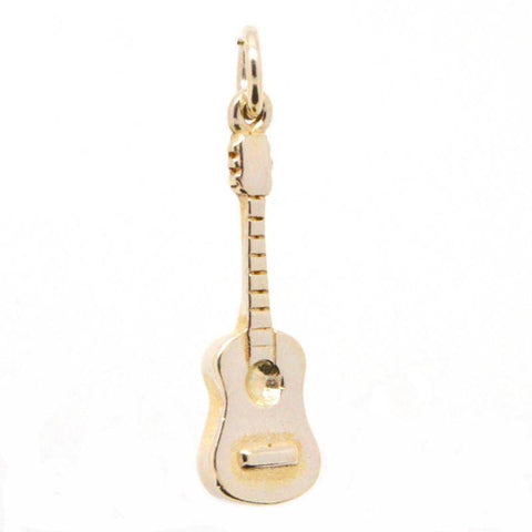 Gold Acoustic guitar charm