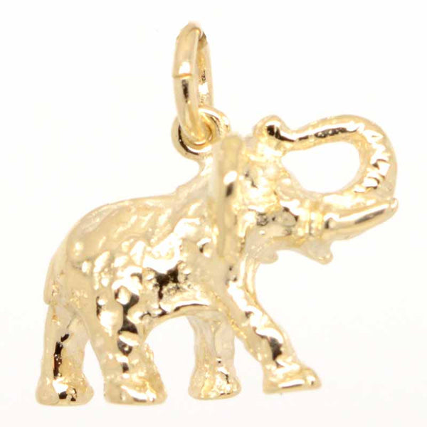 Gold African Elephant Charm - Perfectcharm - 1