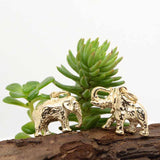 Gold African Elephant Charm - Perfectcharm - 3