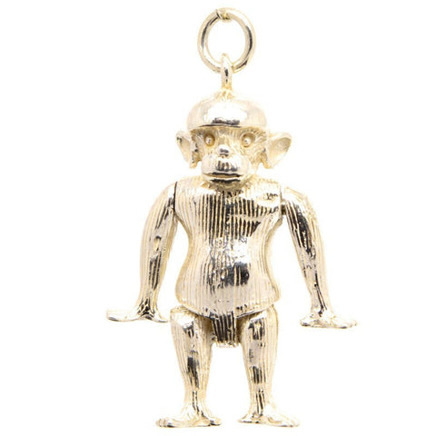 Gold Ape Monkey Charm