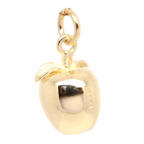 Gold Apple Charm
