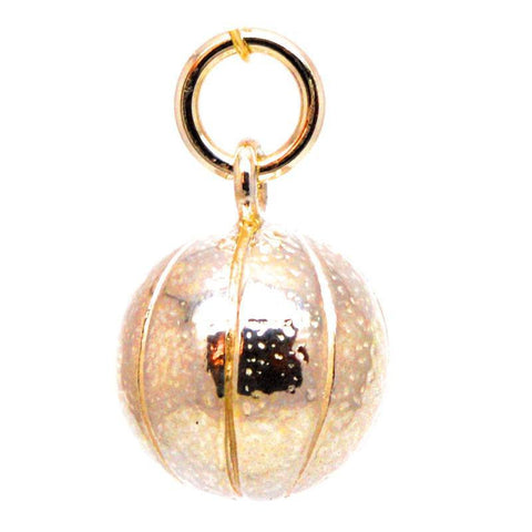 Gold Basket Ball Charm